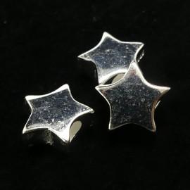 Perle Etoile Argent Sterling 7 x 3 mm (la pièce)