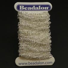 "Chaîne Beadalon ""Figaro"" petit plaqué argent"