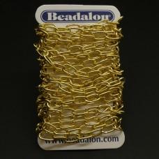 Chaîne Beadalon allongé oval plaqué or