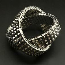 Bracelet Métal argenté extensible 3 rangs