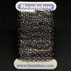 Chaîne Beadalon fine maillons ovales hématite
