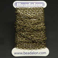 Chaîne Beadalon fine maillons ovales laiton antique