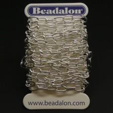Chaîne Beadalon allongé oval plaqué argent