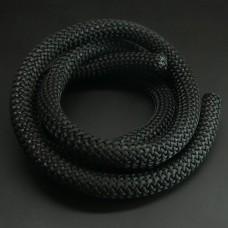 Cordon Tressé Noir 100 cm