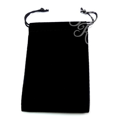 Pochette en velours noir 11 x 7.6 cm