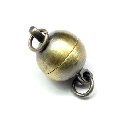 Fermoir - Aimanté boule bronze 10 mm (1 pce)