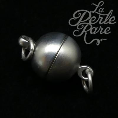 Fermoir - Aimanté boule platine 10 mm (1 pce)