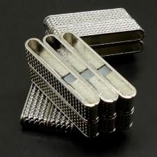 Fermoir - Aimant Rectangle Métal Platine 37 x 20 mm (1 pce)