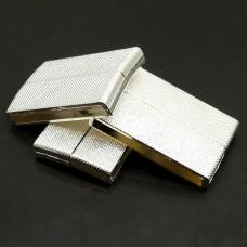 Fermoir - Aimant Rectangle Métal Platine 40 x 25 mm (1 pce)