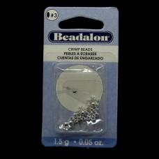 Perle à écraser - Argentée 1.8 mm