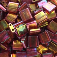Tila - Dark Topaz Rainbow Gold Luster