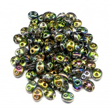 Twin Beads - Blue Green Iris