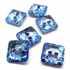 Bouton carré 12 - Aquamarine