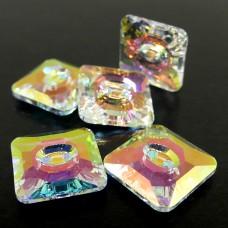 Bouton carré 12 - Crystal AB2x