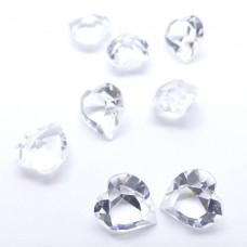 Cabochon coeur 11 - Crystal Transparent