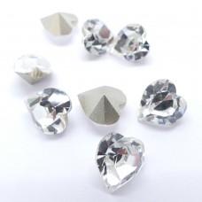 Cabochon coeur 11 - Crystal