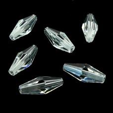 Bicone long - Crystal