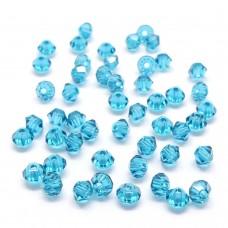 Bicone 3 - Blue Zircon