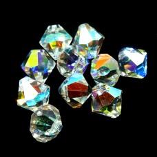 Bicone pendentif 8 - Crystal AB