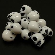 Crâne Acryl Blanc (5 pces)