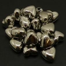 Coeur en résine argenté (20 pces)