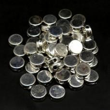 Perle ronde platte 7 mm style Tibet (20 pces)