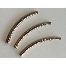 Perle ronde 8 mm striée style Tibet (10 pces)