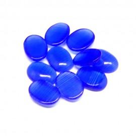 Yeux de Chat Ovale - Cabochon Dark Bleu