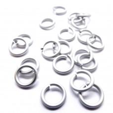 Anneau 16G / 1 cm - Mat Silver
