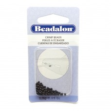 Perle à écraser - Noir 1.3 mm