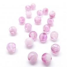 Perle de Verre 6 - Crystal Pink