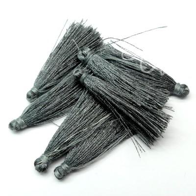 Breloque - Pompon Gris
