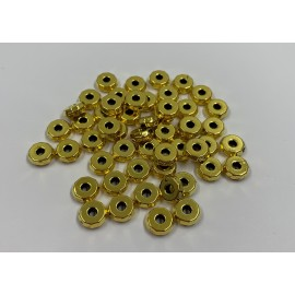 Rondelle métal couleur or antique 8 x 3 mm (10 pièces)