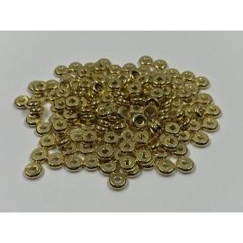 Rondelle en laiton couleur or 4 x 2mm (10 pièces)