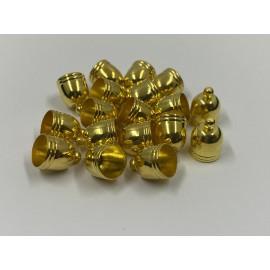 Calotte - Ovale en métal doré 8 mm (2 pces)