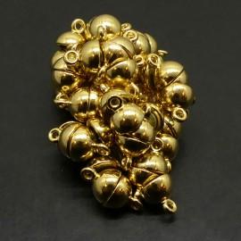 Fermoir - Aimanté Boule  bronze antique 8 mm (à la pièce)