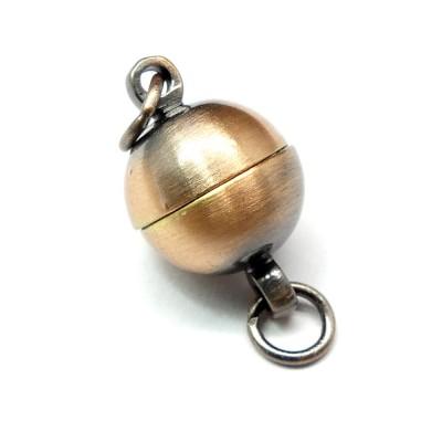 Fermoir - Aimanté boule cuivre 10 mm (1 pce)