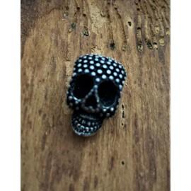 Tête crâne / Argent antique