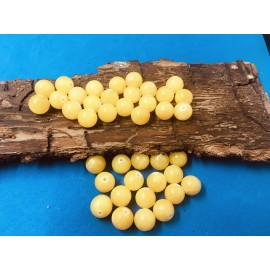 Ronde 10 - Jade de Mashan naturelle jaune  (5 pces)