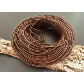 Cordon de cuir brun foncé 1.5 mm (1 m.)
