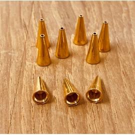 Calotte -Cone en métal dorée 11 mm (2 pces)