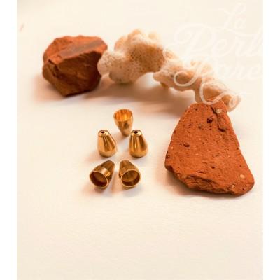 Calotte -Vase en métal doré 8mm (2 pces)