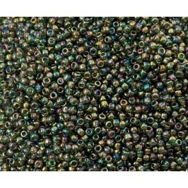 Toho - Rocaille 11 - Transparent Rainbow Olivine (8g)