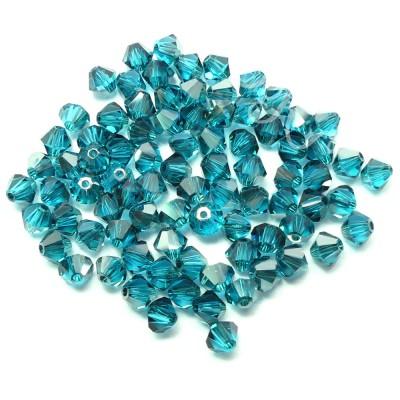 PROMO: Bicone 4 - Blue Zircon Satin (50 pces)