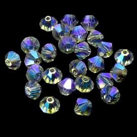 PROMO: Bicone 4 - Shadow Crystal AB2x (50 pces)