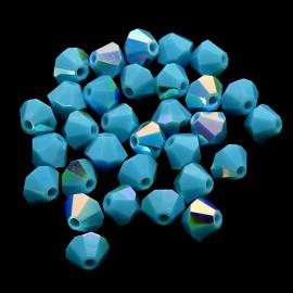 PROMO: Bicone 4 - Turquoise AB (50 pces)