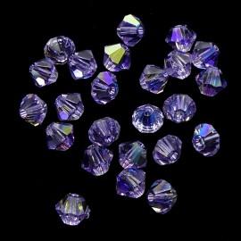PROMO: Bicone 4 - Violet AB (50 pces)