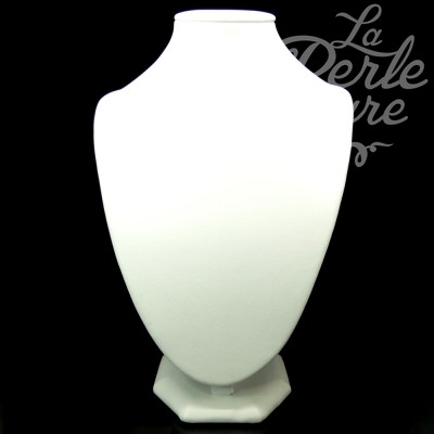 Buste pour collier blanc