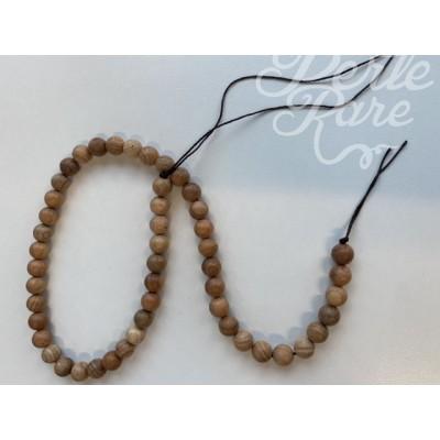 Chapelets de perles en bois naturel