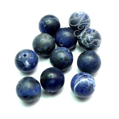 Ronde 12 - Sodalite naturelle givré bleu